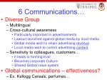 6 communications