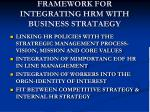framework for integrating hrm with business strataegy