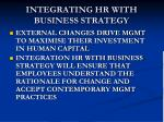 integrating hr with business strategy