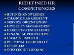 redefined hr competencies