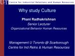 why study culture