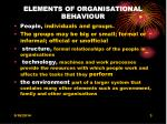 elements of organisational behaviour