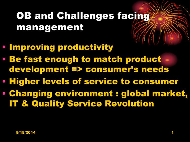 ob and challenges facing management n.
