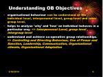 understanding ob objectives
