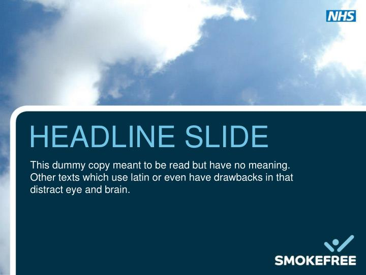 headline slide n.