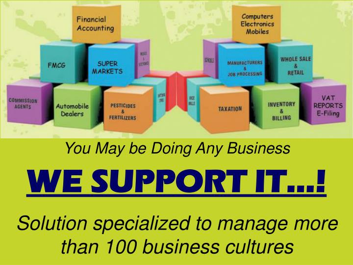 you may be doing any business we support it n.