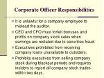 corporate officer responsibilities1