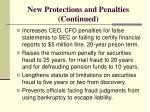 new protections and penalties continued
