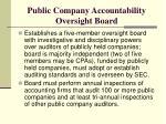 public company accountability oversight board