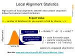 local alignment statistics