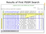 results of first pssm search