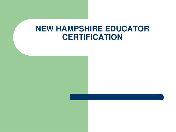 new hampshire educator certification n.