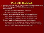 post 9 11 backlash