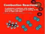 combustion reactions1