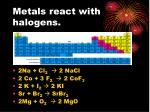 metals react with halogens