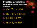 practice predicting reactions with oxide and sulfides