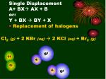 single displacement a bx ax b or y bx by x4