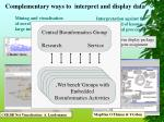 complementary ways to interpret and display data1