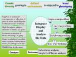 integrate display and analyse the data