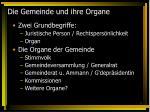 die gemeinde und ihre organe