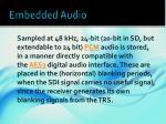 embedded audio