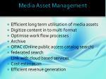 media asset management