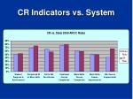 cr indicators vs system
