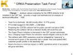 orka preservation task force