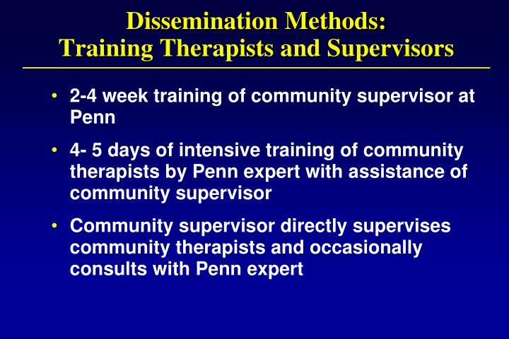 Dissemination Methods: