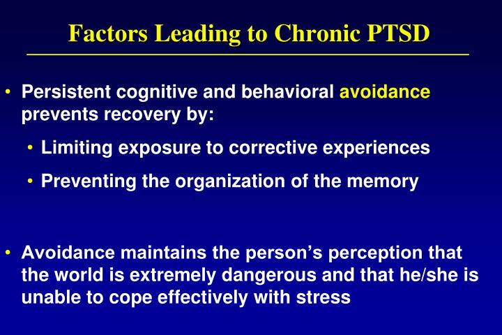 Factors Leading to Chronic PTSD