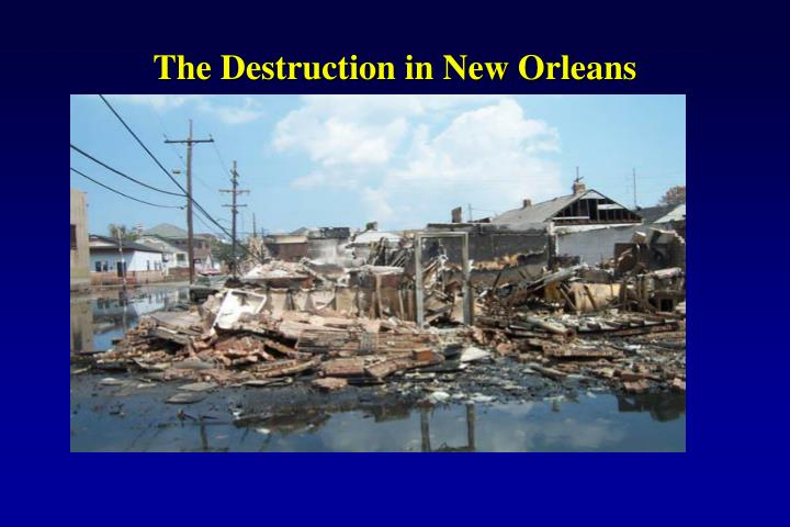 The Destruction in New Orleans