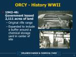 orcy history wwii