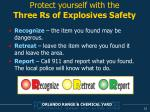 protect yourself with the three rs of explosives safety