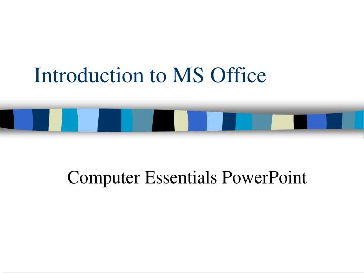 introduction to ms office n.