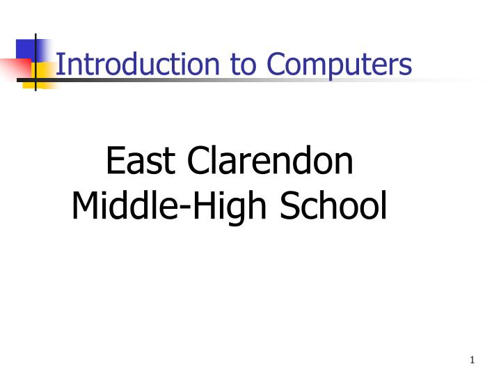 introduction to computers n.