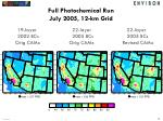 full photochemical run july 2005 12 km grid