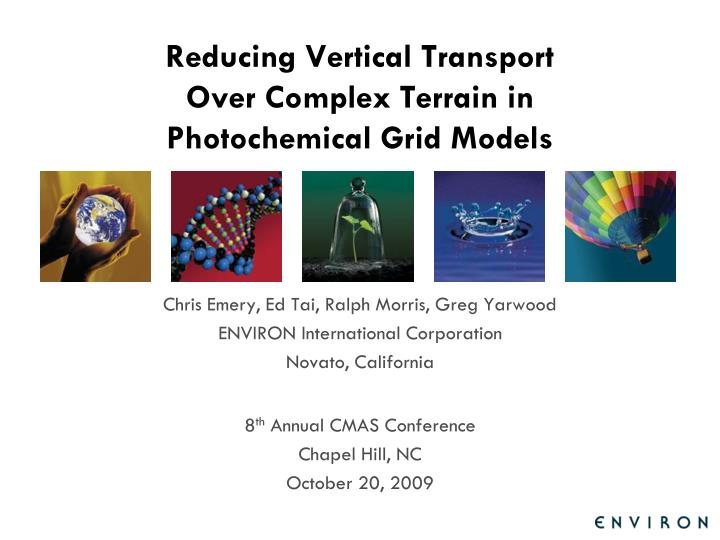 reducing vertical transport over complex terrain in photochemical grid models n.