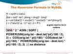 the haversine formula in mysql