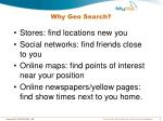 why geo search