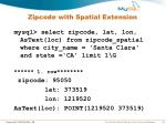 zipcode with spatial extension