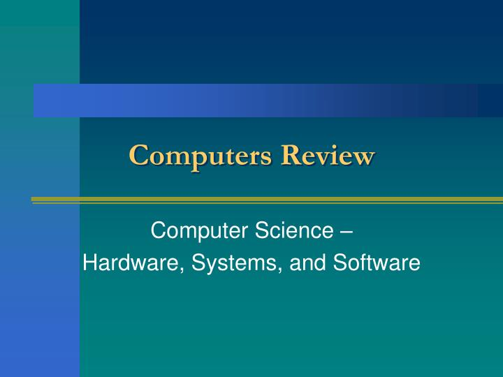 computers review n.
