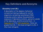 key definitions and acronyms