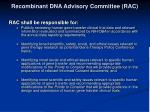 recombinant dna advisory committee rac2