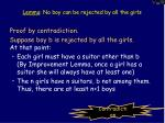 lemma no boy can be rejected by all the girls