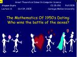 the mathematics of 1950 s dating who wins the battle of the sexes