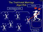 the traditional marriage algorithm1