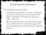 event driven execution