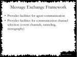 message exchange framework