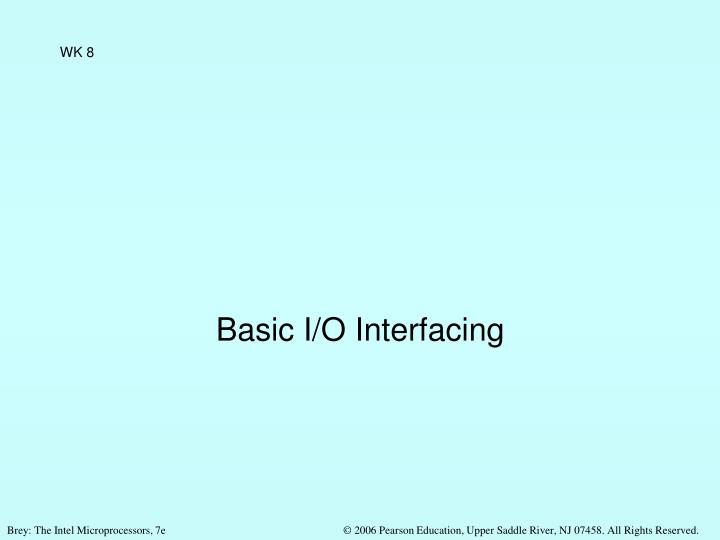 basic i o interfacing n.