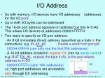 i o address